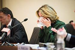 Il Ministro della Salute Beatrice Lorenzin commossa